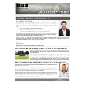 Q1 2017 Newsletter